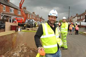 Nick Knowles and his team get going on DIY SOS project to transform lives of tragic Scunthorpe family