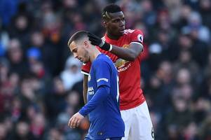 the figures that show paul pogba's pfa team of the year inclusion over eden hazard is farcical