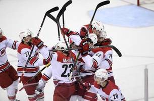 hurricanes storm into second-round showdown with islanders