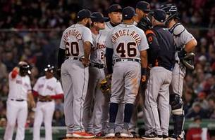 tigers' three-game winning streak ends with 11-4 thud in boston
