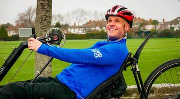 blind and paralysed polar adventurer mark continues to inspire as he plans bike challenge