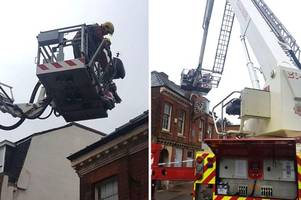 strong winds damage joseph wright's former home as storm hannah hits derby