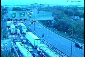 live dartford crossing traffic updates as lane closures enforced as storm hannah hits