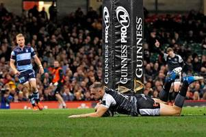 cardiff blues 23-26 ospreys: sam davies snatches judgement day win and euro-play-off after gareth anscombe miss
