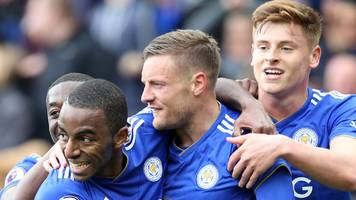 leicester city 3-0 arsenal: jamie vardy scores twice in foxes win
