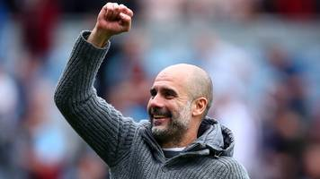 pep guardiola says manchester city's points tally is incredible