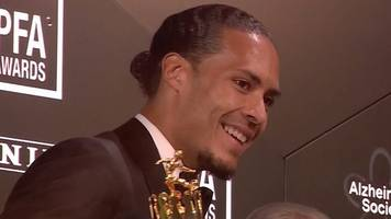 'calm & unflappable' virgil van dijk wins pfa player of the year award