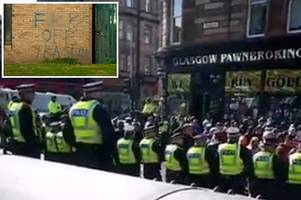 militant irish republican group linked to new ira spark fury in glasgow