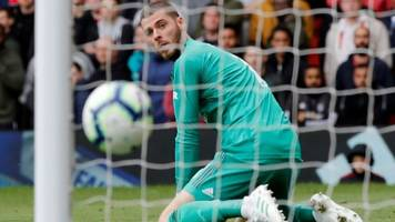 de gea error gifts chelsea point at old trafford