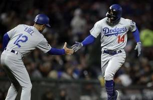 freese, turner homer as dodgers beat giants 10-3