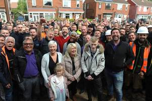 'it's pretty amazing what you've achieved' - nick knowles praises tradespeople as diy sos transforms scunthorpe family's home