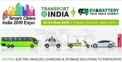 'smart' technologies & solutions to take centre-stage at the transport india 2019 expo, from 22 - 24 may at pragati maidan, new delhi