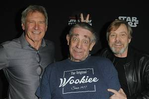 peter mayhew remembered: mark hamill calls chewbacca actor 'a big man with an even bigger heart'
