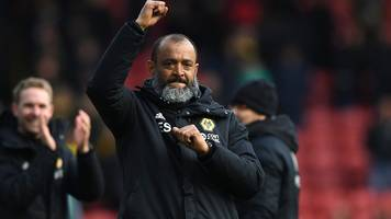 wolves 1-0 fulham: nuno espírito santo delighted by 'amazing' molineux support