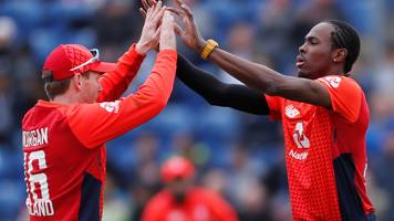 england v pakistan: jofra archer and eoin morgan star in cardiff t20 win