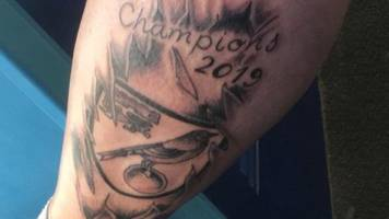 norwich city fan with 'champions 2019' tattoo 'thrilled' at win