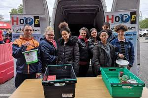 nottingham forest fans fill another van with goods as foodbank donations flood in at city ground