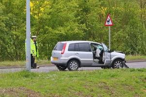 a131 braintree crash: first photos show scene of 'serious' crash which closed road