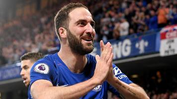'chelsea will do well if higuain stays', says sarri after clincing top-four spot