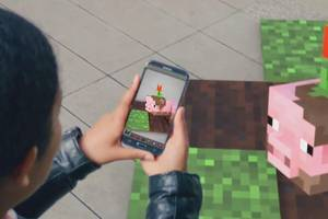 microsoft just teased a slick new minecraft ar game for your phone