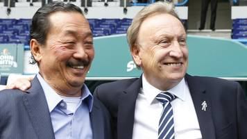 neil warnock: cardiff city boss can stay, says owner vincent tan