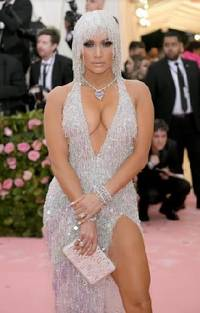 colorful jewelry set in platinum is a popular trend at the met gala