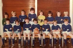 match of the day - primary school football team meets up to recreate photo from 1979