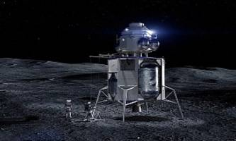 jeff bezos unveils blue moon lander, says it could be used for 2024 mission