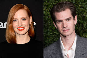 andrew garfield, jessica chastain to play jim and tammy faye bakker in biopic 'the eyes of tammy faye'