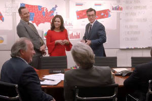 colbert's 'veep'-'the late show' crossover explores the most depressing multiverse ever (video)