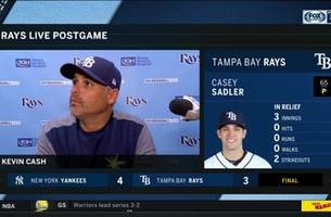 kevin cash discusses tyler glasnow exiting game with forearm tightness, 4-3 loss to the yankees