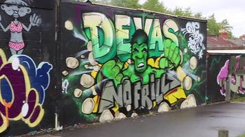 swindon runner creates a graffiti gallery from his routes
