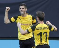 pulisic scores in tearful home farewell to dortmund fans