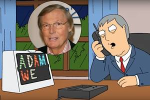 'family guy' pays tribute to adam west, simultaneously taunts 'maniac' james woods (video)