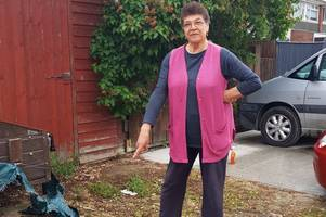 this gloucester woman is simply fed up with mounds of cat poo piling up outside her house