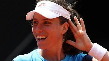 Britain's Konta sets up meeting with Stephens in Rome