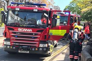 live updates as emergency services rush to fire on mill road