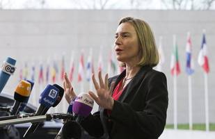 eu supports iran nuclear deal, may talk to u.s.'s pompeo- mogherini