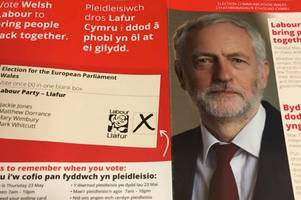 labour send euro vote campaign leaflets written in welsh to homes in highlands