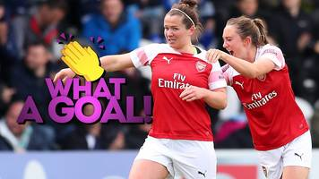 'she can't believe she scored' - watch mitchell's stunner for arsenal