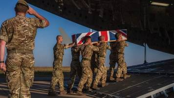 body of british soldier killed by elephant returned to uk