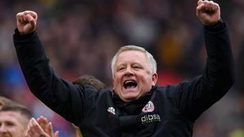 lma awards: sheffield united's chris wilder named manager of the year