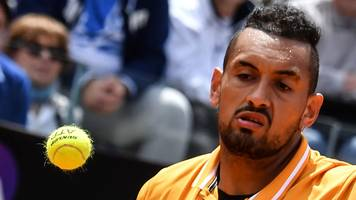 Kyrgios serves underarm again during Italian Open victory