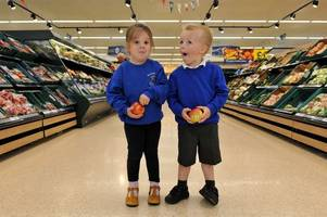 little ones visit tesco to try their hand at different jobs