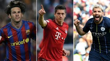 lewandowski or aguero alongside messi? pick your ultimate guardiola xi