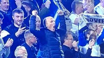 referee mike dean loving life on a tranmere rovers away day