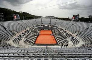 Rain delays Federer and Nadal matches at Italian Open