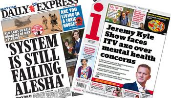 scotland's papers: alesha mum's 'fury' and kyle faces axe