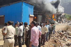 Mumbai: Fire breaks out at Gausiya compound in Kalwa, no casualties yet