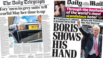 The Papers: May's future and Johnson 'targets No 10'